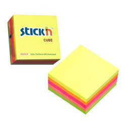 Куб Hopax 21012 неоновый желтый 76*76мм 400л - Бумага для записей самоклеящаясяБумага для записей самоклеящаяся<br>Вес (кг) 0.175, Объем (м3) 0.00031