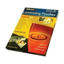 Пленка для ламинирования Fellowes A3 (100 шт) (FS-53075) - Пленка глянцеваяПленка глянцевая<br>Пленка для горячего ламинирования FS-53075 глянцевая, с высоким содержанием полиэтилентерефталата (50%). Используется для защиты документов от влаги, загрязнения, механических повреждений, придания жесткости и яркости.