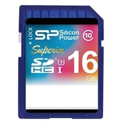 silicon power superior sdhc uhs class 3 class 10 16gb