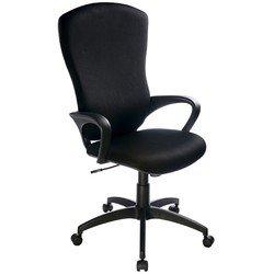 Кресло руководителя Бюрократ CH-818AXSN/15-21 (черный) - Стул офисный, компьютерныйКомпьютерные кресла<br>Классическое кресло из ткани, эргономичная спинка, удобные подлокотники, устойчивая крестовина, механизм качания, фиксация в нескольких положениях, регулировка по высоте (система газлифт)