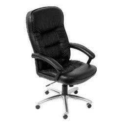 Кресло руководителя Бюрократ T-9908AXSN-AB (черный, искусственная кожа) - Стул офисный, компьютерныйКомпьютерные кресла<br>Классическое кресло с обивкой из кожи, эргономичная спинка, удобный подголовник, механизм качания, фиксация в нескольких положениях, регулировка по высоте (система газлифт), хромированная крестовина