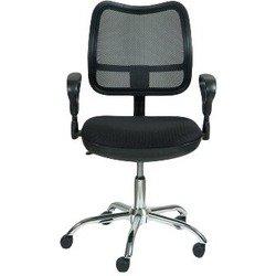 Кресло Бюрократ CH-799SL/TW-11 (черный) - Стул офисный, компьютерныйКомпьютерные кресла<br>Классическое кресло из ткани, эргономичная спинка (сетка), регулировка по высоте (система газлифт), ограничение по весу: 120кг, материал обивки: ткань (сетка); цвет обивки: черный