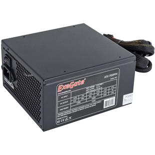 Exegate ATX-700PPX 700W с кабелем питания с защитой от выдергивания - Блок питанияБлоки питания<br>Блок питания, 700 Вт, активный PFC, 1 вентилятор (135 мм), с кабелем питания с защитой от выдергивания
