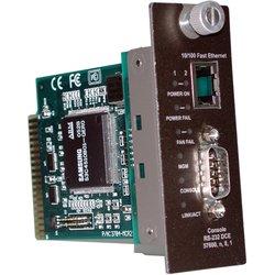 Модуль SNMP-управления для TRENDNET TFC-1600 (TFC-1600MM) - Медиаконвертер, трансиверМедиаконвертеры, трансиверы<br>Обеспечивает SNMP-индикацию и поддерживает управление портами для TFC-1600, системы шасси для волоконных преобразователей с 16-ю отсеками. Мгновенный доступ к системе охлаждения и индикации состояния питания. Управление через интерфейс веб-браузера по порту Ethernet или через интерфейс командной строки по порту RS-232.