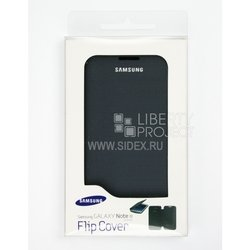 чехол-флип для samsung galaxy note 2 n7100 (flip cover) (синий)
