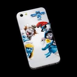Чехол-накладка для Apple iPhone 5, 5S, SE (Смурфики 2 R0002612) (Семья Смурфиков) - Чехол для телефонаЧехлы для мобильных телефонов<br>Плотно облегает корпус и гарантирует надежную защиту от царапин и потертостей.