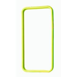 Бампер для Apple iPhone 5, 5S (CD130076) (зеленый/желтый) - Чехол для телефонаЧехлы для мобильных телефонов<br>Плотно облегает корпус и гарантирует надежную защиту от царапин и потертостей.