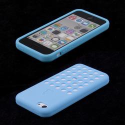 Силиконовый чехол-накладка для Apple iPhone 5C (R0000447) (голубой) - Чехол для телефонаЧехлы для мобильных телефонов<br>Плотно облегает корпус и гарантирует надежную защиту от царапин и потертостей.