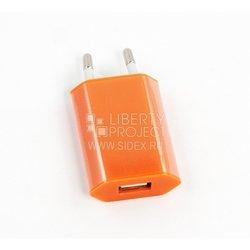 Универсальное сетевое зарядное устройство, адаптер 1хUSB, 1А (Liberti Project SM000122) (оранжевый) - Сетевой адаптер 220v - USB, ПрикуривательСетевые адаптеры 220v - USB, Прикуриватель<br>Аксессуар для зарядки устройства от сети переменного тока.