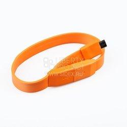Дата-кабель USB - micro USB (плоский браслет) (SM001788) (оранжевый) - КабелиUSB-, HDMI-кабели, переходники<br>Позволит подключить к персональному компьютеру любые устройства с разъемом micro USB.