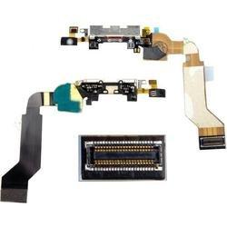 Шлейф для Apple iPhone 4S (с системным разъемом) (CD125441) (черный) - Шлейф для мобильного телефонаШлейфы для мобильных телефонов<br>Шлейф в мобильном телефоне – маленькая, но неотъемлемая часть конструкции, представляющая собой систему контактных проводов, которая соединяет различные детали телефона.