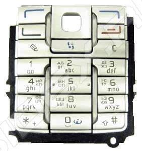 Клавиатура для Nokia E60 (00000707) (серебристый) - купить , скидки, цена,  отзывы, обзор,