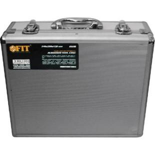 Ящик для инструмента Fit 65610 34x28x12 см - ЯщикЯщики для инструментов<br>Ящик для инструмента алюминиевый, 34x28x12 см, внутренние перегородки - переставные, отделка из мягкого пористого материала для обеспечения более бережного хранения инструмента