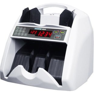 DORS 600 (белый) - Счетчик купюрСчетчики купюр<br>Счетчик банкнот, скорость счета: 1200 банкнот/мин, ёмкость накопителя: 100 банкнот, ёмкость загрузчика: 400 банкнот, питание: от электросети, 261x232x238 мм