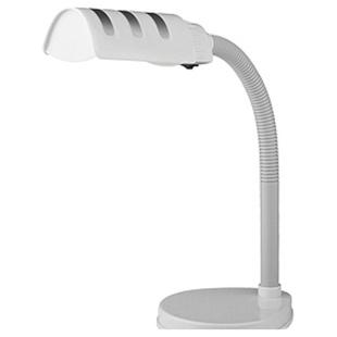 Настольная лампа ЭРА NE-302-E27-15W-W - ОсвещениеНастольные лампы и светильники<br>Офисная, тип цоколя: E27, мощность: 15 Вт, напряжение: 220 В, стиль: хай-тек, цвет плафона абажура: белый, регулировка наклона и поворота плафона.