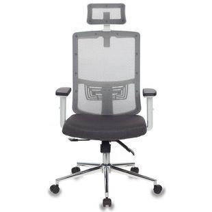 Бюрократ MC-W612-H/GR/GRAFIT - Стул офисный, компьютерныйКомпьютерные кресла<br>Тип установки: на колесиках, подлокотники; подголовник, эргономичная спинка (сетка), газлифт, регулировка высоты подлокотников, регулировка высоты подголовника, ограничение по весу: 120кг, материал обивки: сетка/ткань.
