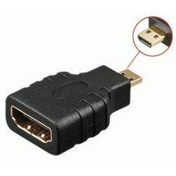 Переходник microHDMI (m) - HDMI (f) - Кабель, переходникКабели, шлейфы<br>Выполнен из высококачественных материалов и имеет долгий срок службы.
