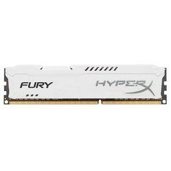 Память DDR3 8Gb 1600MHz Kingston HyperX FURY White Series (HX316C10FW/8) RTL - Память для компьютераМодули памяти<br>Kingston HX316C10FW/8 - 1 модуль памяти DDR3, объем модуля 8 Гб, форм-фактор DIMM, 240-контактный, частота 1600 МГц, радиатор для дополнительного охлаждения, CAS Latency (CL): 10.