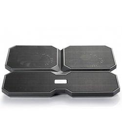 Охлаждающая подставка для ноутбука до 15.6 (Deepcool MULTI CORE X6) (черный) - Охлаждающая подставка для ноутбукаОхлаждающие подставки для ноутбуков<br>Эргономичный и привлекательный дизайн, металлическая база из сетки.