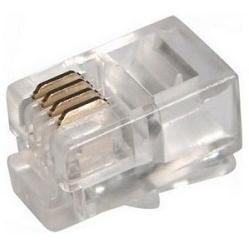 Коннектор телефонный RJ-12 4P4C (Proconnect 05-1001-3) 100 шт. - КабельСетевые аксессуары<br>Джек телефонный RJ-12, 4P4C, 100 штук