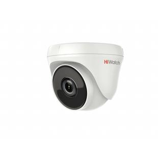HiWatch DS-T233 3.6мм (белый) - Камера видеонаблюденияКамеры видеонаблюдения<br>HD-TVI камера, купольная, объектив 3.6мм, разрешение 2 Мп, EXIR-подсветка до 40м.