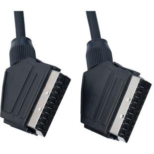 Кабель SCART 21pin (M)-SCART 21pin (M) 3м (Perfeo S8002) (черный) - Кабель, переходник для TV и видеоКабели, переходники для TV и видео<br>Аудио-видео кабель с разъемами SCART 21pin (M)-SCART 21pin (M), контакты разъемов покрыты никелем, длина 3м