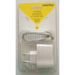 Сетевое зарядное устройство Lightning - USB для Apple iPhone 5, 5C, 5S, 6, 6 plus, iPad 4, Air, Air 2, mini 1, mini 2, mini 3 (SmartBuy NOVA SBP-1150) (белый)
