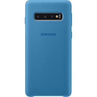 Чехол-накладка для Samsung Galaxy S10 (EF-PG973TLEGRU) (синий) - Чехол для телефонаЧехлы для мобильных телефонов<br>Чехол плотно облегает корпус и гарантирует надежную защиту от царапин и потертостей.