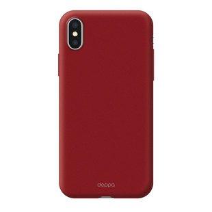 Чехол-накладка для Apple iPhone XS Max (Deppa 83365) (красный) - Чехол для телефонаЧехлы для мобильных телефонов<br>Чехол плотно облегает корпус и гарантирует надежную защиту от царапин и потертостей.