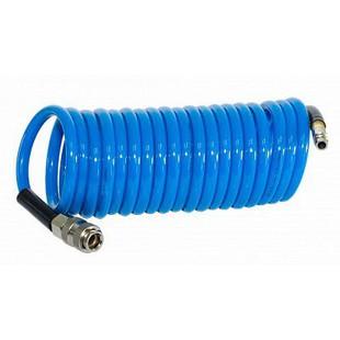 Шланг для компрессора Fubag 170304 - ШлангШланги<br>Шланг спиральный с фитингами, рапид, полиуретан, 15 бар, 8х12 мм, 5 м