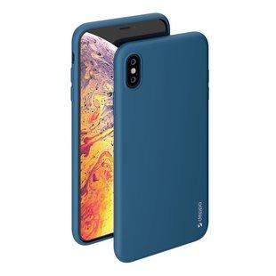 Чехол-накладка для Apple iPhone XS Max (Deppa 85358) (синий) - Чехол для телефонаЧехлы для мобильных телефонов<br>Чехол плотно облегает корпус и гарантирует надежную защиту от царапин и потертостей.