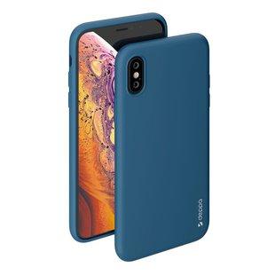 Чехол-накладка для Apple iPhone X, XS (Deppa 85362) (синий) - Чехол для телефонаЧехлы для мобильных телефонов<br>Чехол плотно облегает корпус и гарантирует надежную защиту от царапин и потертостей.