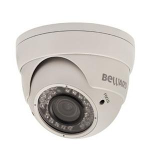 Beward M-962VD26U 2.8-12мм (белый) - Камера видеонаблюденияКамеры видеонаблюдения<br>Аналоговая видеокамера с ИК-подсветкой, купольная, видеовыход: 1Vp-p, 75 Ом, подключение: BNC (видеосигнал), Jack 2.1 мм (питание).
