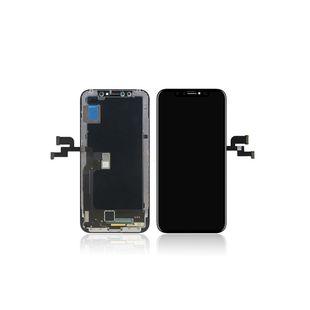 Дисплей для Apple iPhone Х с тачскрином (М7750081) (черный) - Дисплей, экран для мобильного телефонаДисплеи и экраны для мобильных телефонов<br>Полный заводской комплект замены дисплея для Apple iPhone Х. Стекло, тачскрин, экран для Apple iPhone Х в сборе. Если вы разбили стекло - вам нужен именно этот комплект, который поставляется со всеми шлейфами, разъемами, чипами в сборе.