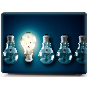 Чехол накладка для Apple MacBook Air 13 (i-Blason Cover Bulbs) (синий)