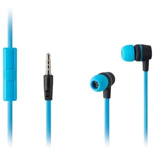 HARPER HV-107 (голубой) - НаушникиНаушники и Bluetooth-гарнитуры<br>Наушники с микрофоном, проводные, 20-20000 Гц, 105 дБ, 32 Ом, неспутывающийся кабель 1.2 м, голубые
