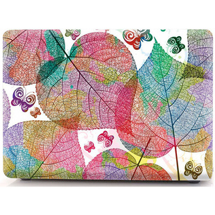 Чехол накладка для Apple MacBook Air 13 2018 (i-Blason Cover Beautiful heart shapet leaf)