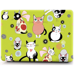 Чехол накладка для Apple MacBook Air 13 2018 (i-Blason Cover Cat)