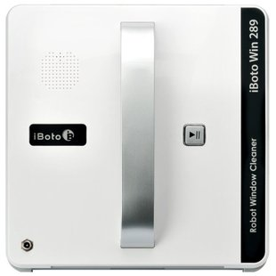 Робот-стеклоочиститель iBoto Win 289, белый - СтеклоочистительСтеклоочистители<br>Робот-стеклоочиститель iBoto Win 289, белый - тип: робот, тип питания: аккумуляторный/сетевой, тип уборки: влажная и сухая, назначение: окна, зеркала, кафель, комплектация: зарядное устройство, пульт ДУ, моющая тряпка, полирующая тряпка, страховочный шнур, удлинитель сетевого шнура, особенности: светодиодная индикация, звуковая индикация, автоматическое опредление зоны уборки, мойка безрамных поверхностей, обход препятствий, автоматическая остановка, дистанционное управление: приложение, пульт, количество режимов работы: 3 шт., сцепление с поверхностью у робота: вакуумное