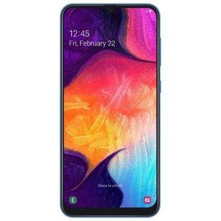 Samsung Galaxy A50 128GB (синий) - Мобильный телефонМобильные телефоны<br>Смартфон Samsung Galaxy A50 128GB - тип: смартфон, линейка: Galaxy A, android, диагональ экрана: 6quot; и больше, 4G LTE, 2 SIM-карты, память: 128 Гб, слот для карты памяти, оперативная память: 6 Гб, емкость аккумулятора: 3500-4499 мА?ч, NFC, количество основных камер: 3, год анонсирования: 2019