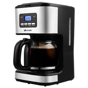 Кофеварка Kitfort KT-719 - Кофеварка, кофемашинаКофеварки и кофемашины<br>Кофеварка Kitfort KT-719 - кофеварка капельного типа, для молотого кофе, объём кофейника 1.4 л, фильтр постоянный/одноразовый, противокапельная система