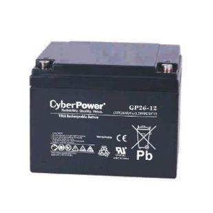 CyberPower GP26-12 (12V 26Ah) - Батарея для ибпАккумуляторные батареи<br>Свинцово-кислотный аккумулятор для ИПБ, напряжение 12В, емкость 26Ач.