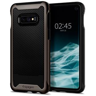 Чехол накладка для Samsung Galaxy S10e (Spigen Hybrid NX 609CS25667) (темно-серый)  - Чехол для телефонаЧехлы для мобильных телефонов<br>Spigen Hybrid NX представляет собой стильный и надежный чехол для Samsung Galaxy S10e, выполненный в форм-факторе накладки на заднюю часть. Конструктивно он состоит из двух элементов и обеспечивает отличную защиту смартфона от механических повреждений и загрязнений. Специальная текстура на задней панели аксессуара придает телефону оригинальности и не позволяет оставаться на поверхности отпечаткам пальцев.