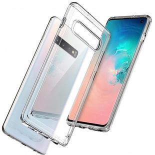Чехол накладка для Samsung Galaxy S10 (Spigen Ultra Hybrid 605CS25801) (прозрачный) - Чехол для телефонаЧехлы для мобильных телефонов<br>Spigen Ultra Hybrid представляет собой прочный и удобный чехол-накладку, которая рассчитана для защиты Samsung Galaxy S10. Аксессуар плотно прилегает к смартфону и не оставляет зазоров, что исключает скопление пыли и грязи между чехлом и устройством.