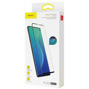 Комплект защитных пленок для Samsung Galaxy S10 (Baseus Curved Soft Screen Protector SGSAS10-KR01) (черный) - ЗащитаЗащитные стекла и пленки для мобильных телефонов<br>Baseus Curved Soft Screen Protector представляет собой набор из двух защитных пленок, которые предназначены для установки на дисплей Samsung Galaxy S10. Пленки выполнены из прочных материалов и обеспечат покрытие всего дисплея без каких-либо зазоров.