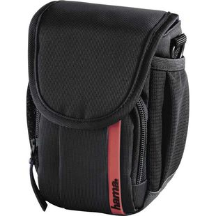 Hama Nashville 90 (черный, красный) - Чехол, сумка для фотоаппаратаСумки, чехлы для фото- и видеотехники<br>Назначение: фото/видеокамера, внутренний размер: 75 х 130 х 70 мм.