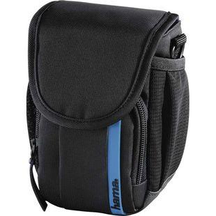 Hama Nashville 90 (черный, синий) - Чехол, сумка для фотоаппаратаСумки, чехлы для фото- и видеотехники<br>Назначение: фото/видеокамера, внутренний размер: 75 х 130 х 70 мм.