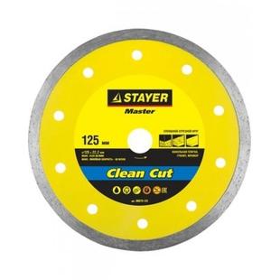Stayer 36675-125 - Отрезной дискДиски отрезные<br>Круг отрезной, алмазный, внешний диаметр 125 мм, посадочный диаметр 22.2 мм.