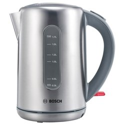 Bosch TWK 7901 (серебристый) - ЭлектрочайникЭлектрочайники и термопоты<br>Чайник, объем 1.7 л, закрытая спираль, установка на подставку в любом положении, стальной корпус, индикация включения.