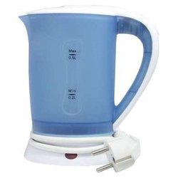 Микма ИП-518 (синий) - ЭлектрочайникЭлектрочайники и термопоты<br>Микма ИП-518 - чайник, объем 0.5 л, мощность 550 Вт, открытая спираль, жесткая фиксация на подставке, пластиковый корпус, индикация включения